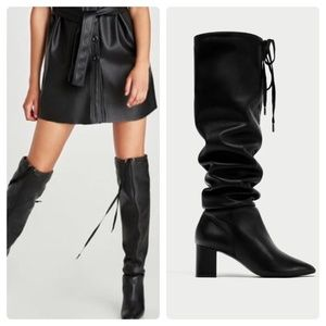 ZARA OVER THE KNEE BOOTS, 100% LEATHER NWT